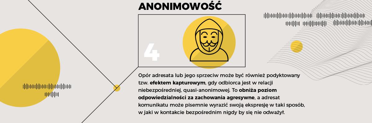 Kluczowe cechy e-komunikatów — anonimowość
