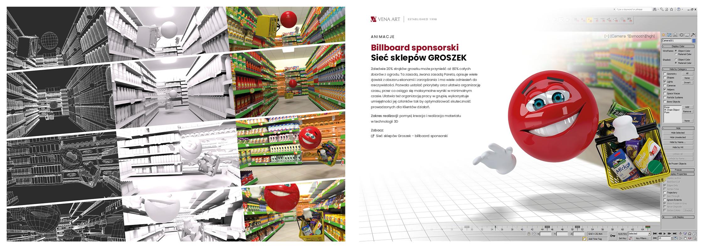 Billboard sponsorski —Sieć sklepów Groszek