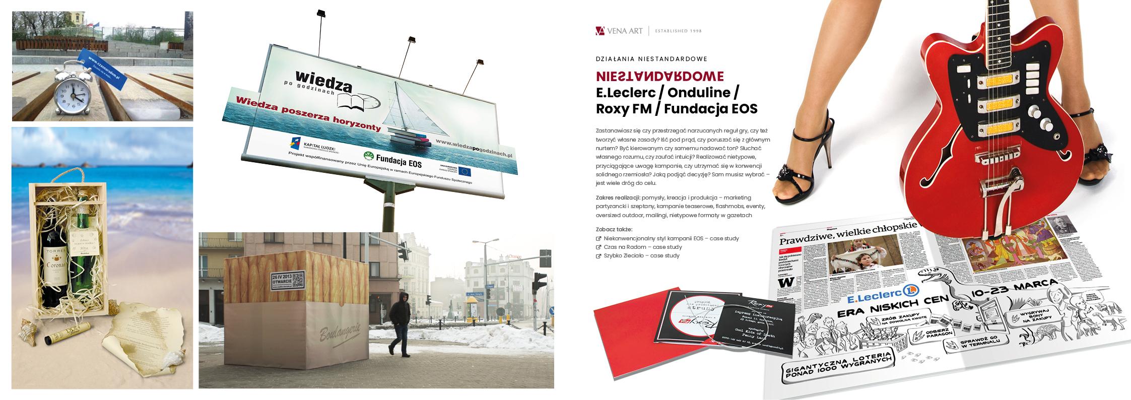 NIESTANDARDOWE —E.Leclerc / Onduline / Roxy FM / Fundacja EOS