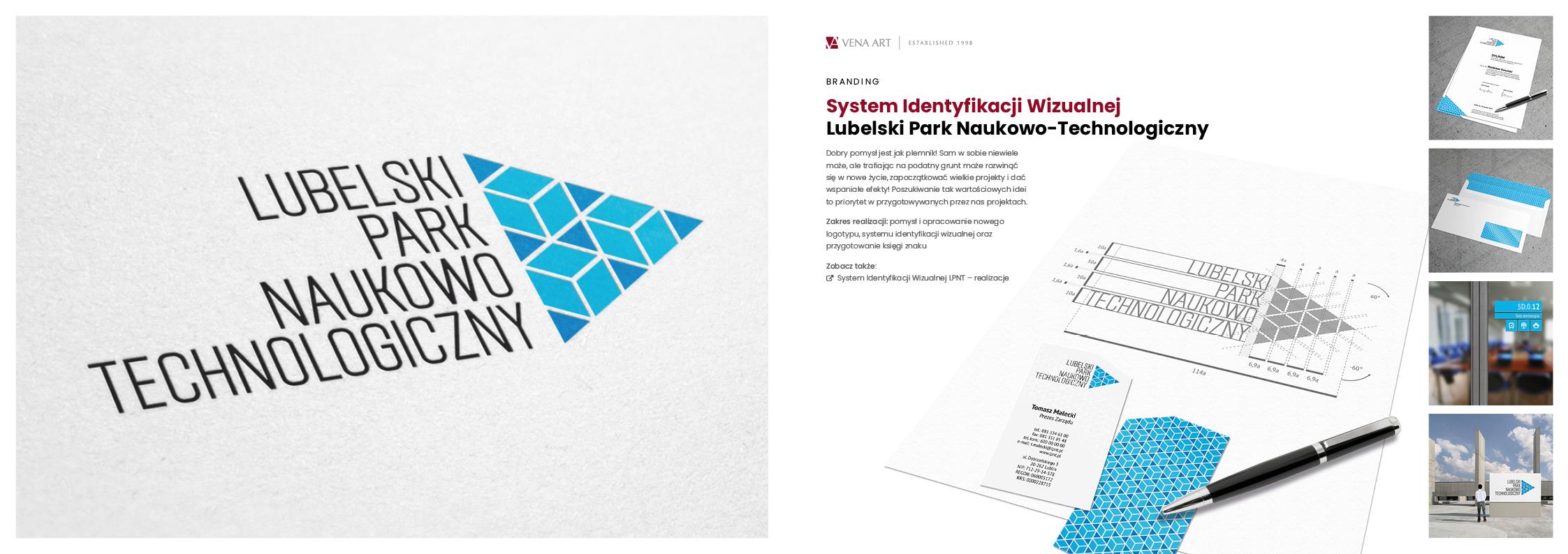 System Identyfikacji Wizualnej —Lubelski Park Naukowo-Technologiczny