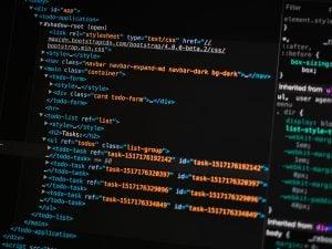 Przykładowy kod źródłowy frameworka Bootstrap 4