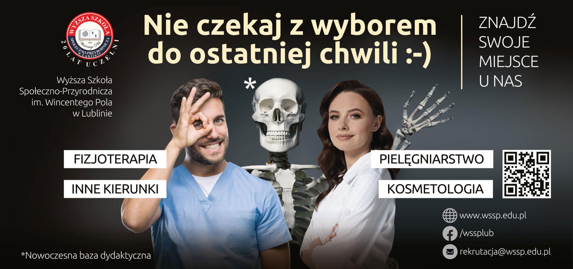 Billboard promocyjny kampanii rekrutacyjnej WSSP