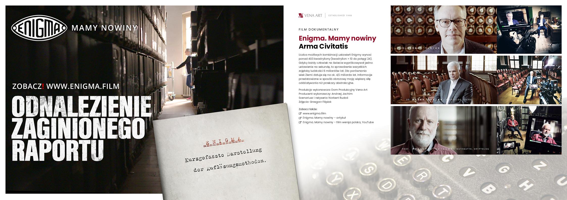 Enigma. Mamy nowiny —Arma Civitatis