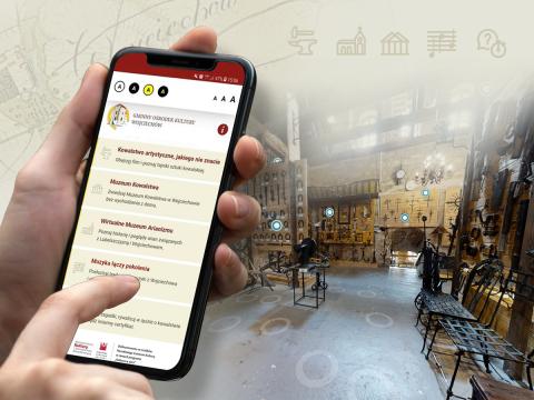 Cyber - podróż – atrakcje Wojciechowa w aplikacji on-line