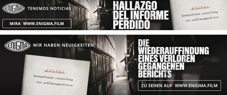 Enigma. Mamy nowiny —przykładowe reklamy enigma.film